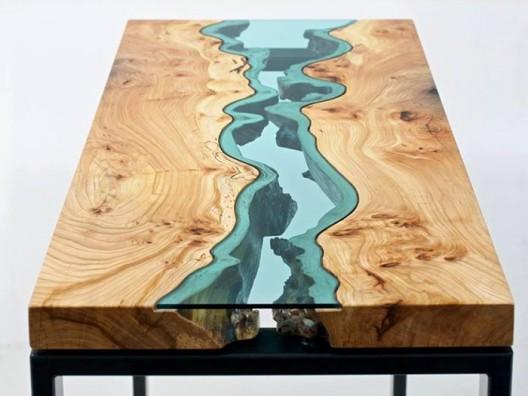 Camlı doğal masa