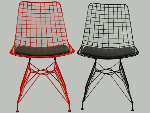 Tel minderli Sandalye
