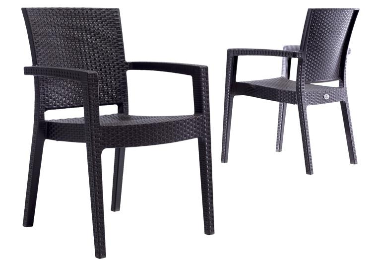 PVC Rattan efektli sandalye