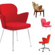 Kromaj ayaklı poliüretan sandalye