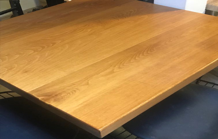 Kayın masif masa tablası