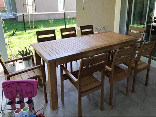 Ahşap masa takımı