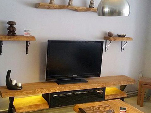 Doğal ağaç tv sehpası