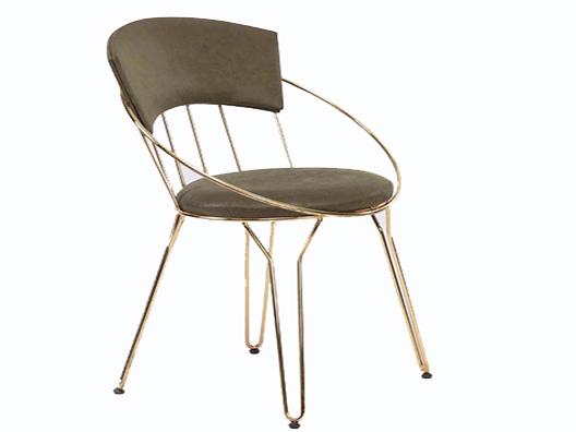 krom tel sandalye
