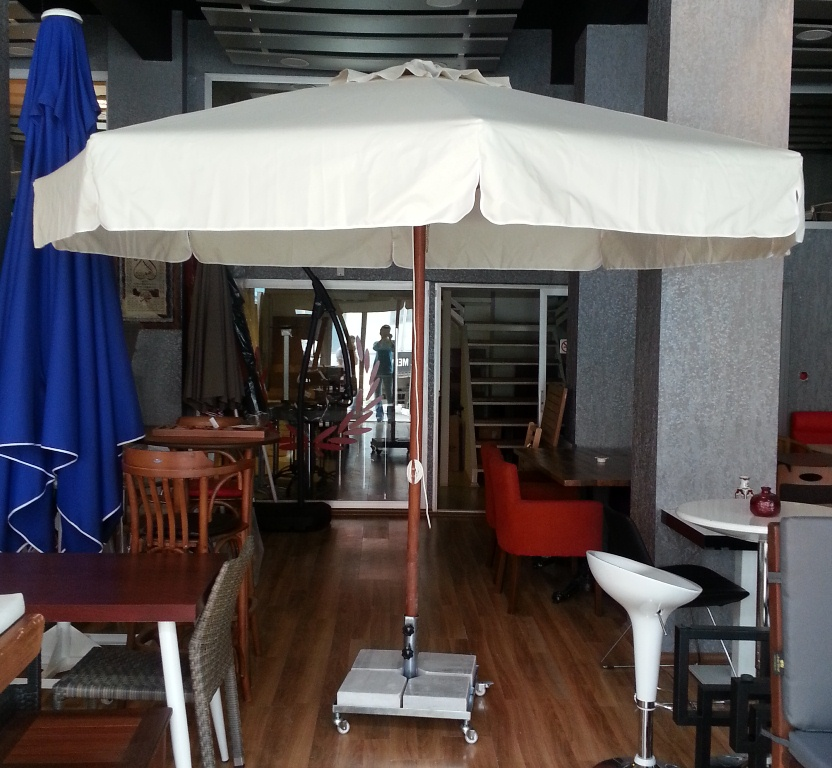 Ahşap Kare Şemsiye