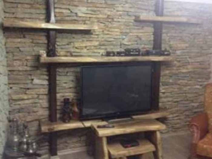 Ağaç TV ünitesi
