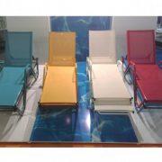 Tekstilen şezlong