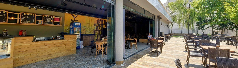 Cafe ahşap corian bar tezgahları