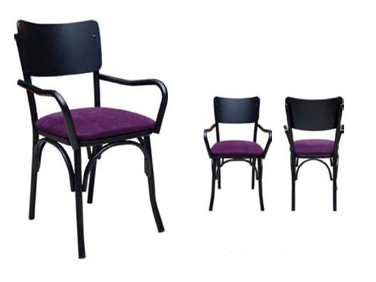 Metal Kollu döşemeli Sandalye